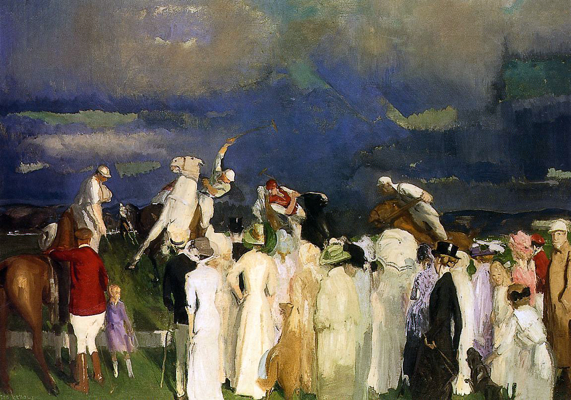 """Crowd at the Polo Game"" by  George Bellows"