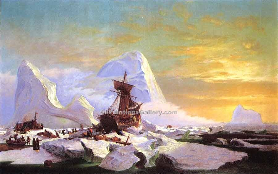 """Crushed in the Ice"" by  William Bradford"