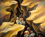Cubes in the Canyon by  Dan Livni (Painting ID: AD-0360-KA)