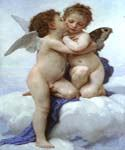 Cupid and Pcyche as Children by  Adolphe Bouguereau (Painting ID: DA-7089-KA)