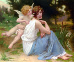 Cupid and Psyche 85 by  Guillaume Seignac (Painting ID: ED-0785-KA)