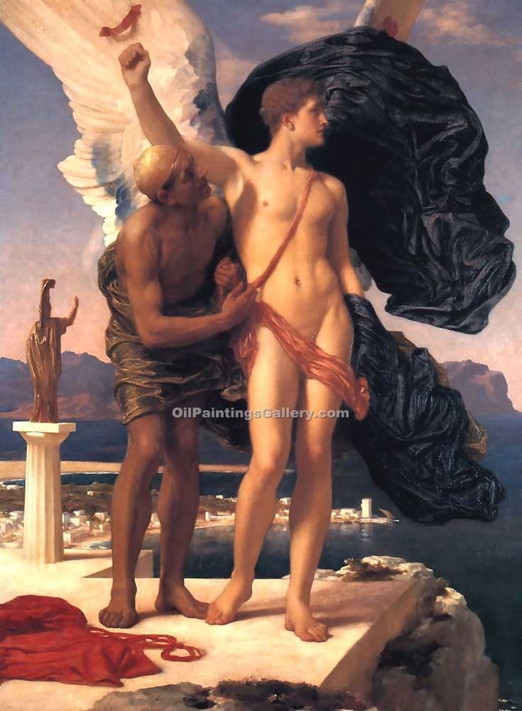 """Daedalus and Icarus"" by   Leighton Frederic"