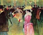 Dance at the Moulin Rouge by  Henri Toulouse Lautrec (Painting ID: ED-1136-KA)
