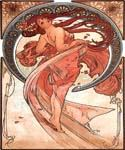 Dance by  Alphonse Maria Mucha (Painting ID: CL-2018-KA)