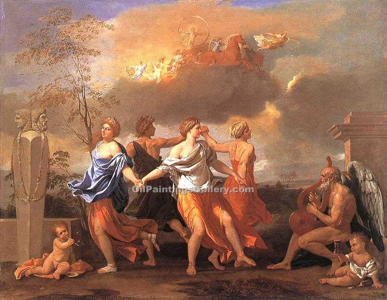 Dance to the Music of Time by Poussin Nicolas | Masterpiece Reproductions - Oil Paintings Gallery