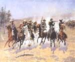 Dash For the Timber by  Frederic Remington (Painting ID: GE-1901-KA)