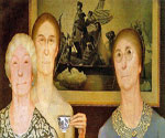 Daughters of the Revolution by  Grant Wood (Painting ID: ED-1202-KA)