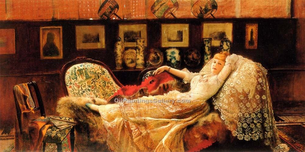 """Day Dreams"" by  John Atkinson Grimshaw"