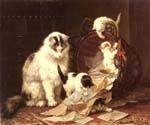De Snippermand by  Henriette Ronner Knip (Painting ID: AN-1101-KA)