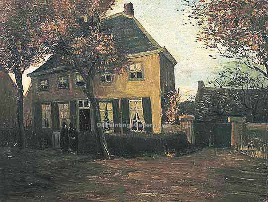 De pastorie te Nuenen by Vincent Van Gogh | Paintings Replicas - Oil Paintings Gallery