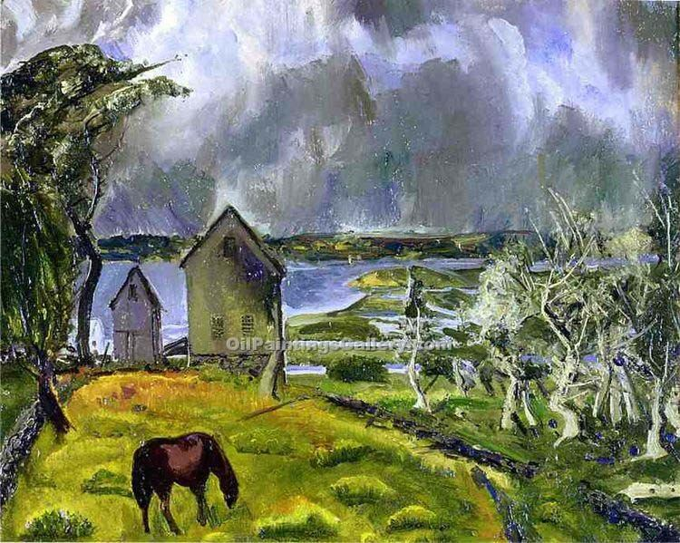 """Dead Orchard"" by  George Bellows"