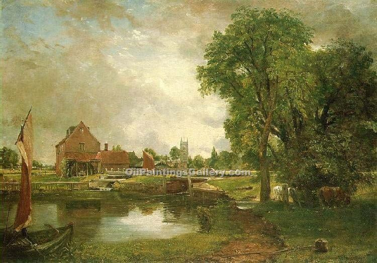 """Dedham Lock and Mill"" by  John Constable"