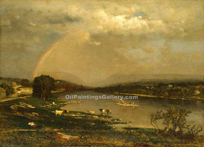"""Delaware Water Gap"" by  George Inness"