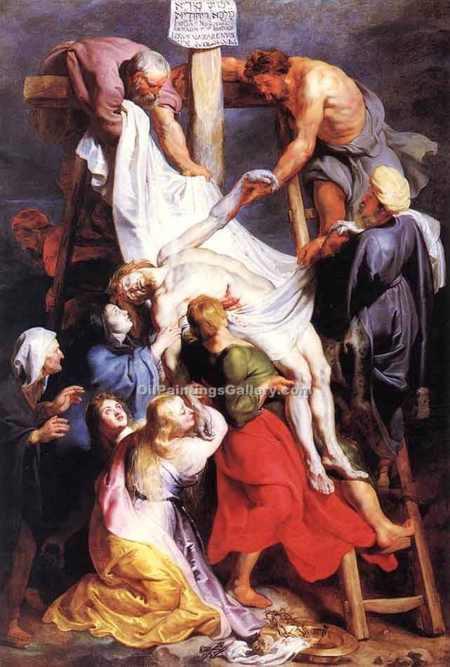 Descent from the Cross 55 by Rubens Peter Paul | Art Paintings For Sale - Oil Paintings Gallery