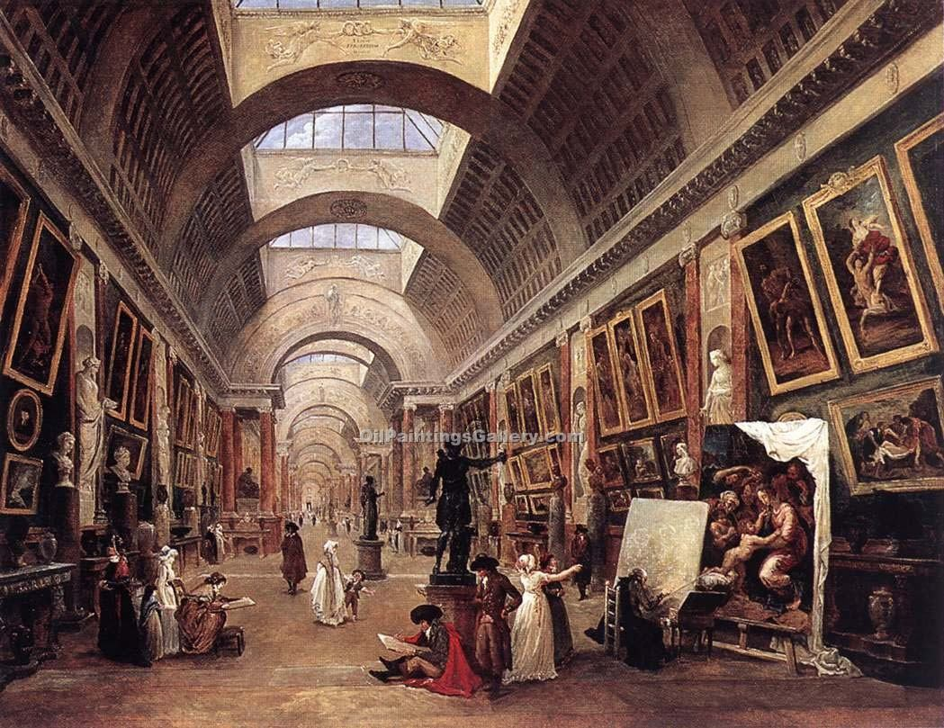 """Design for the Grande Galerie in the Louvre"" by  Hubert Robert"