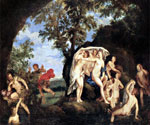 Diana and Actaeon by  Francesco Albani (Painting ID: DA-0093-KA)