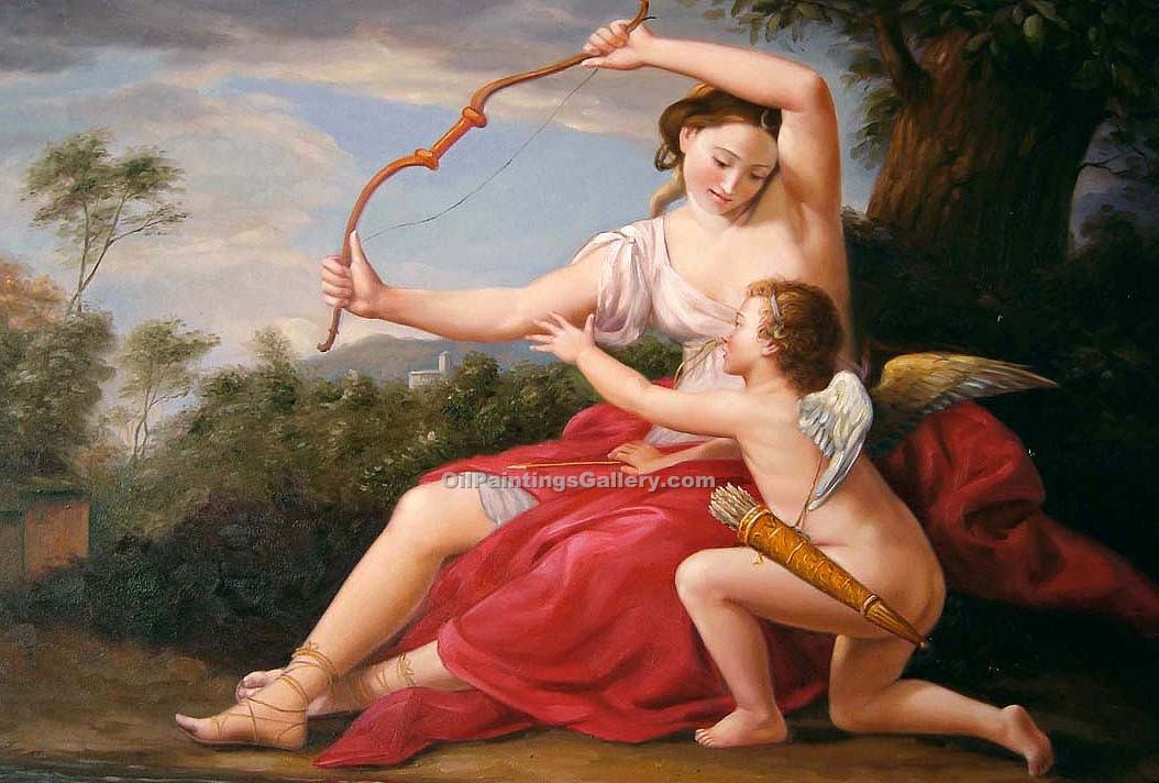 """Diana and Cupid by Batoni"""