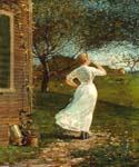Dinnerhorn by  Winslow Homer (Painting ID: EI-0212-KA)