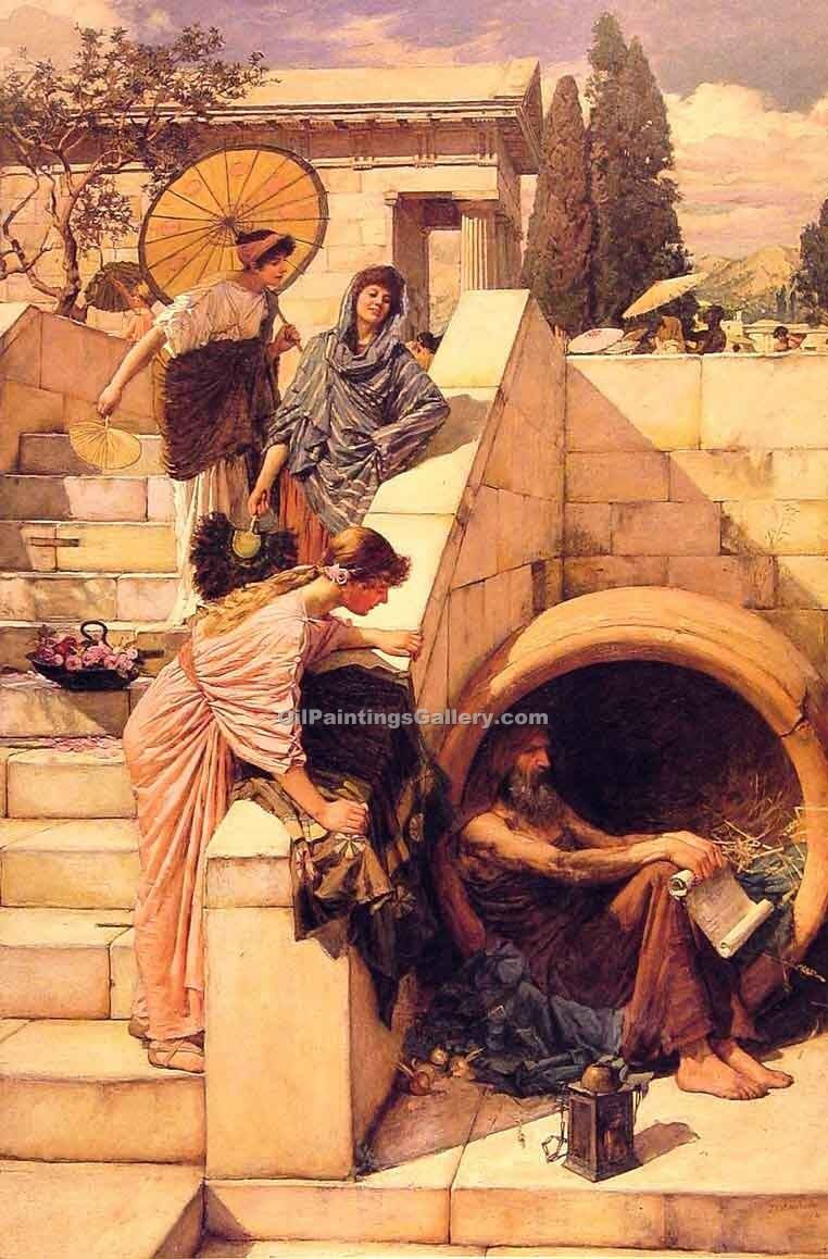 Diogenes 86 by Waterhouse John William | Oil On Canvas Painting - Oil Paintings Gallery