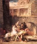 Diomedes Devoured by his Horses by  Gustave Moreau (Painting ID: CM-2100-KA)