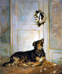Dog in Mourning by  Henry Bacon (Painting ID: AN-0331-KA)