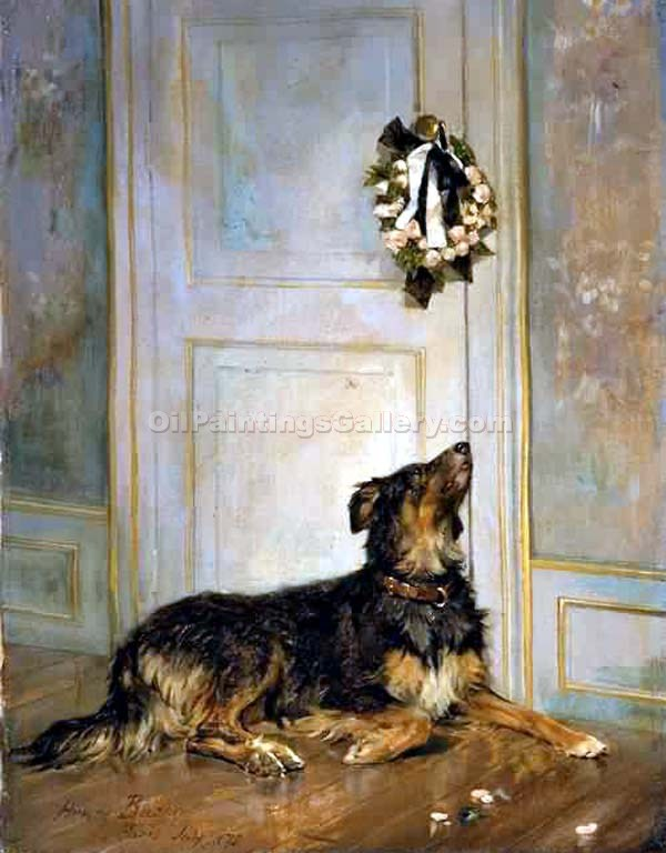 """Dog in Mourning"" by  Henry Bacon"