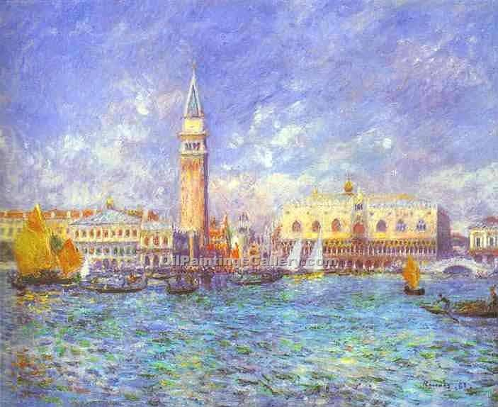 Doges Palace, Venice by Pierre Auguste Renoir | Modern Art Artists - Oil Paintings Gallery