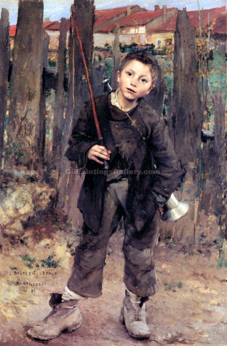 """Doing Nothing"" by  Jules Bastien Lepage"