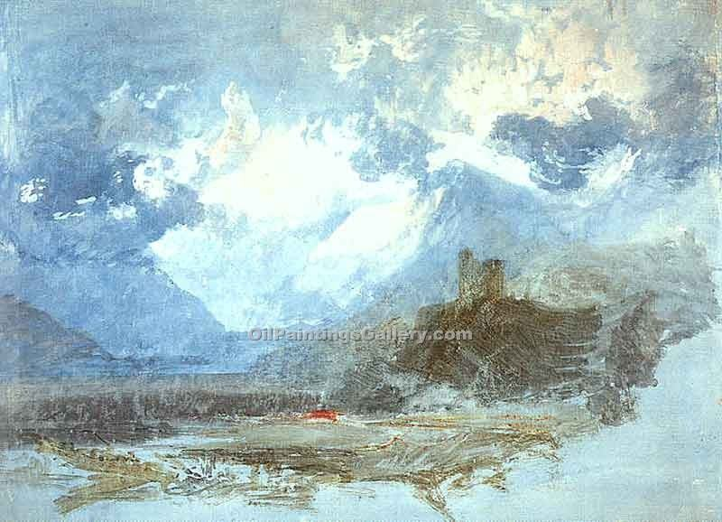 """Dolbadern Castle"" by  William Turner"