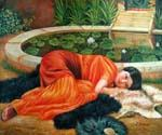 Dolce Far Niente by  John William Godward (Painting ID: CL-4352-KA)