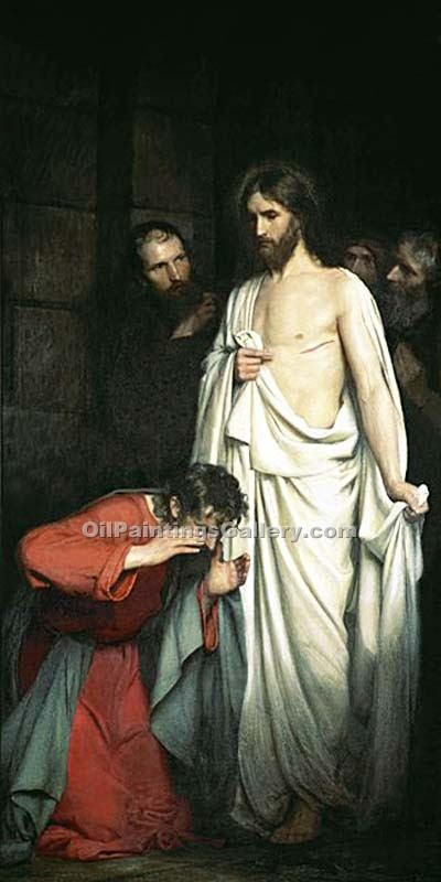 """Doubting Thomas 56"" by  Carl Heinrich Bloch"