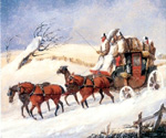 Dover to London Coach in Winter by  Samuel Henry Alchen (Painting ID: LA-0437-KA)