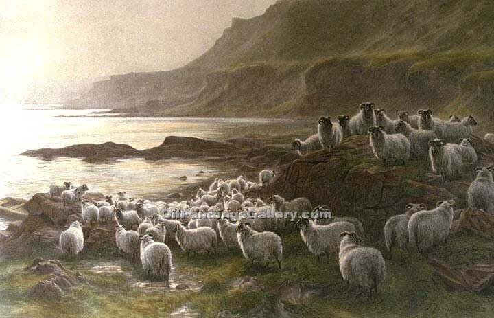 """Down to the Ferry"" by  Joseph Farquharson"