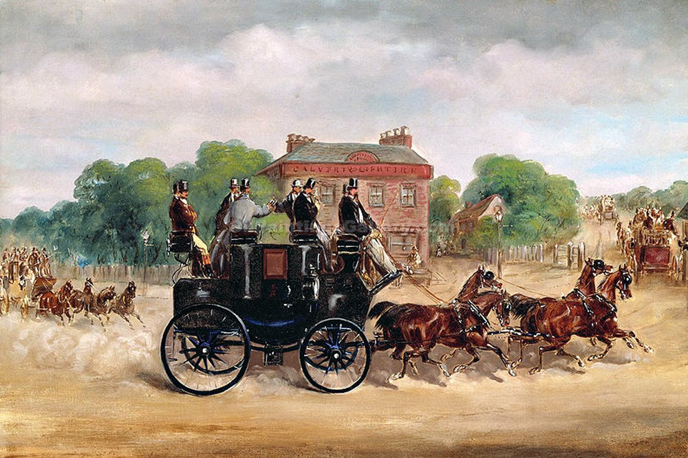 """Drags of Four in Hand Club"" by  Samuel Henry Alchen"