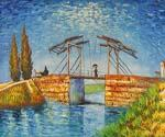 Drawbridge with Lady with Parasol by  Vincent Van Gogh (Painting ID: VG-0314-KA)