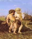 Drunken Bacchus and Cupid by  Jean Leon Gerome (Painting ID: CL-1440-KA)