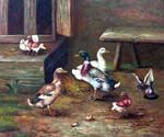 Ducks and Birds Oil Painting (ID: AN-0971-A)