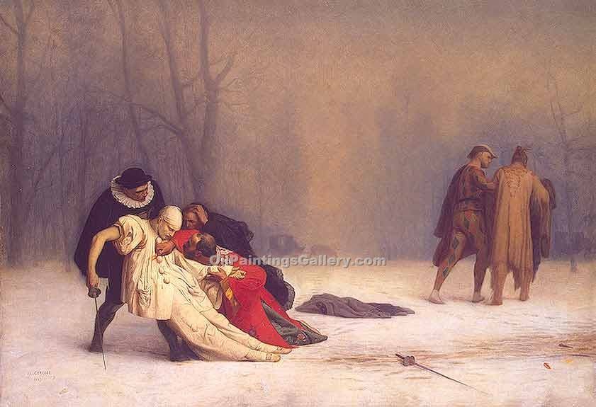 """Duel After a Masked Ball"" by  Jean Leon Gerome"