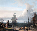Dutch Ships in the Roadstead of Texel by  Ludolf Backhuysen (Painting ID: LA-0479-KA)