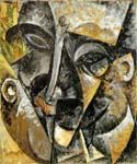 Dynamism of a Man s Head by  Umberto Boccioni (Painting ID: AF-0329-KA)