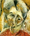Dynamism of a Woman s Head by  Umberto Boccioni (Painting ID: AB-0330-KA)