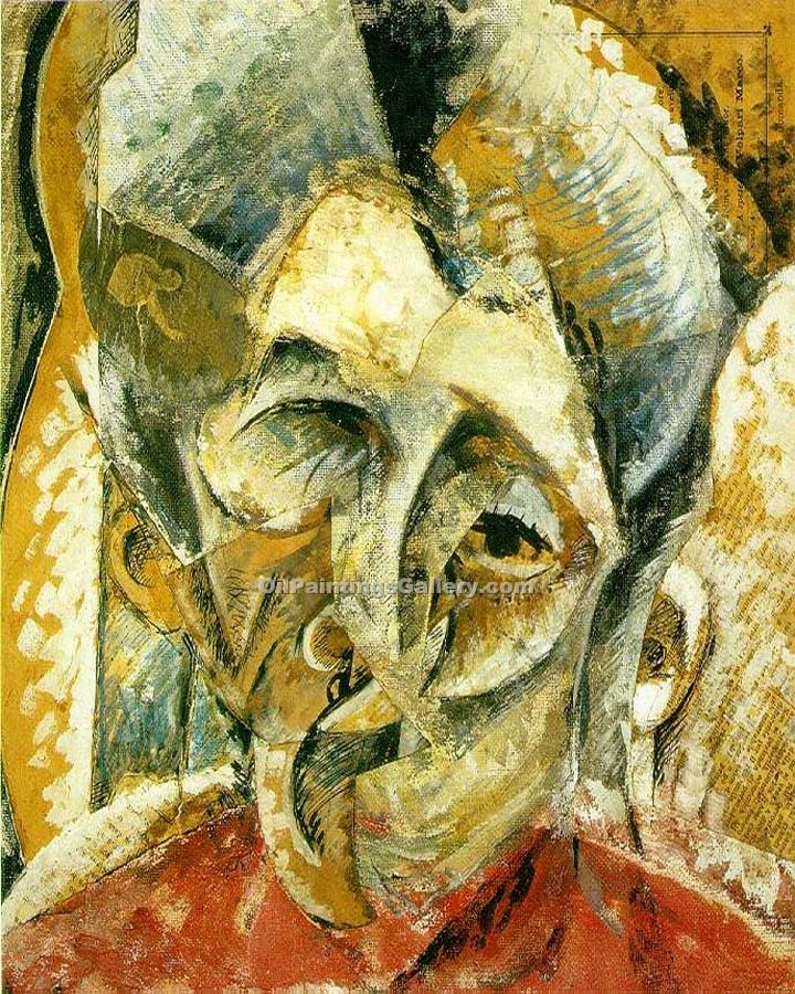 Dynamism of a Woman s Head by Umberto Boccioni | African American Paintings - Oil Paintings Gallery