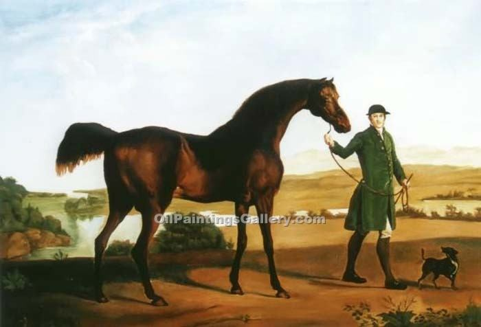 """Earl Grosvenor s Bandy"" by  George Stubbs"
