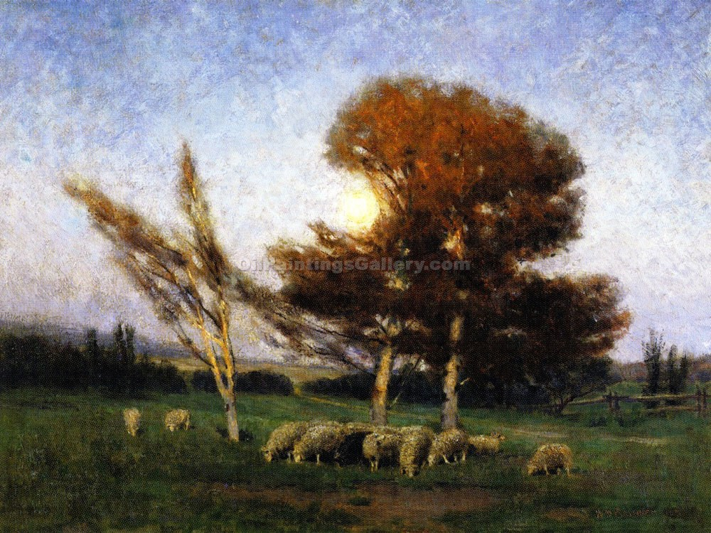 """Early Moonrise in September"" by  William Brymner"