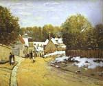 Early Snow at Louveciennes by  Alfred Sisley (Painting ID: LA-0337-KA)
