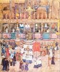 Easter Procession St. Mark s by  Maurice Brazil Prendergast (Painting ID: CI-1714-KA)