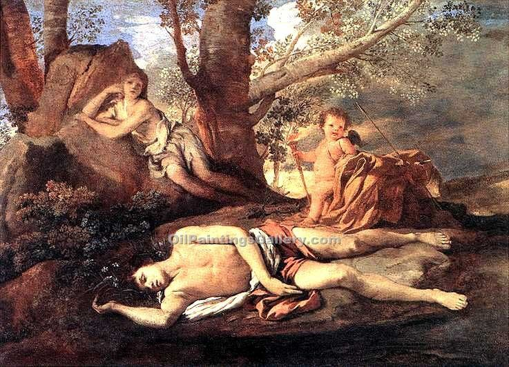 """Echo and Narcissus 63"" by  Nicolas Poussin"