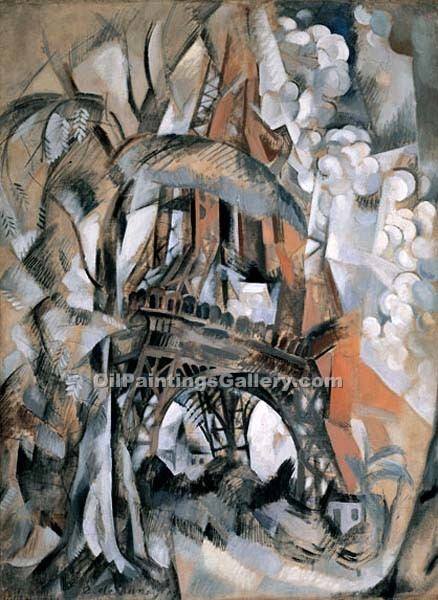 """Eiffel Tower with Trees"" by  Robert Delaunay"