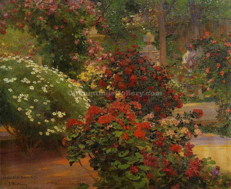 El Jardin by Gil Jose Benlliurey | Landscape Paintings - Oil Paintings Gallery