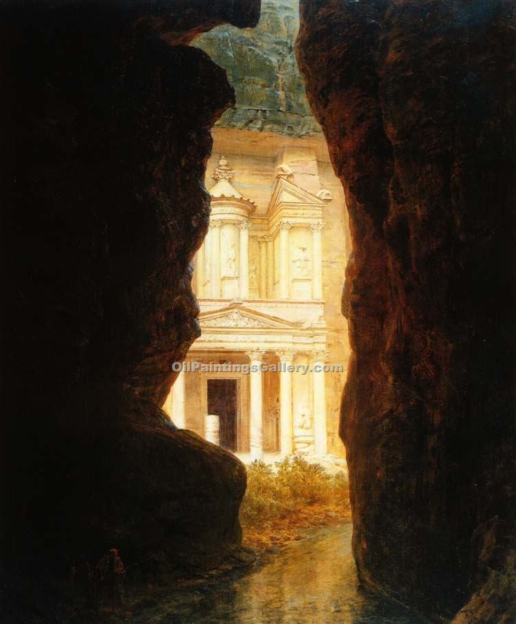 """El Khasne Petra"" by  Frederic Edwin Church"